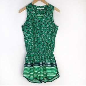 Collective Concepts Sailboat Green Romper